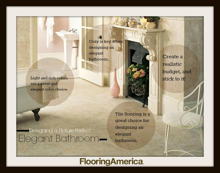 how to create an elegant bathroom with tile flooring - Elegant Bathroom
